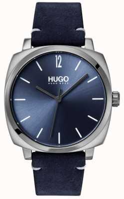 HUGO #own | cinturino in pelle blu | quadrante blu 1530069