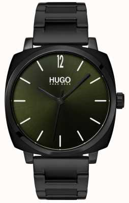 HUGO #own | braccialetto ip nero | quadrante nero 1530081
