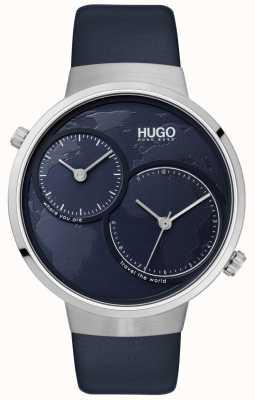 HUGO #travel | cinturino in pelle blu | quadrante blu 1530053