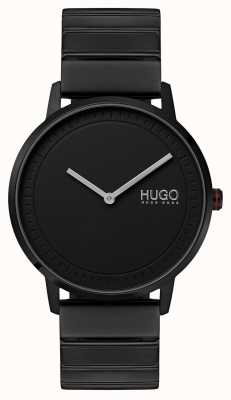 HUGO #echo | braccialetto ip nero | quadrante nero 1520020
