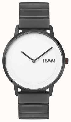 HUGO #echo | braccialetto grigio ip | quadrante bianco 1520022
