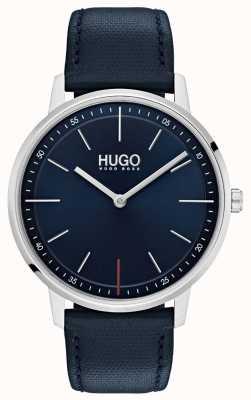 HUGO #esistere cinturino in pelle blu | quadrante blu 1520008