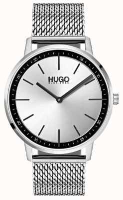 HUGO #esistere maglia di acciaio inossidabile | quadrante argentato 1520010