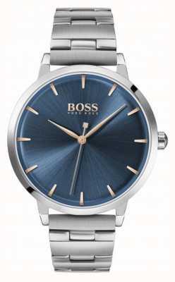 Boss | marina femminile | bracciale in acciaio inossidabile quadrante blu | 1502501