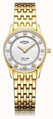 Rotary | placcato pvd oro ultra sottile da donna | quadrante madreperla LB08303/41/D