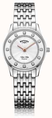 Rotary | acciaio inossidabile ultra sottile da donna | quadrante madreperla LB08300/01/D