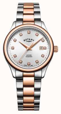 Rotary | oxford femminile | acciaio inossidabile bicolore | raggio di sole d'argento LB05094/70/D
