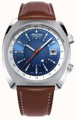 Alpina | startimer pilot heritage | automatico | pelle marrone | AL-555LNS4H6