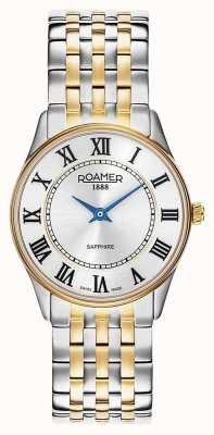 Roamer | delle donne | sonata | bracciale bicolore | quadrante argentato | 520820 47 15 50