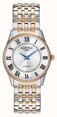Roamer | sonata femminile | acciaio inossidabile bicolore | quadrante bianco | 520820 49 15 50