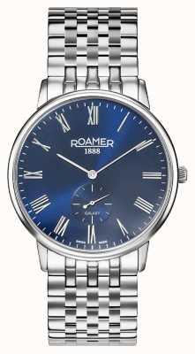 Roamer | galassia maschile | bracciale in acciaio inossidabile quadrante blu | 620710 41 45 50