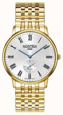 Roamer | galassia maschile | acciaio inossidabile placcato in oro | quadrante bianco | 620710-48-15-50