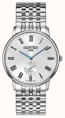 Roamer | elementi da uomo | bracciale in argento inossidabile quadrante nero | 650810-41-55-50