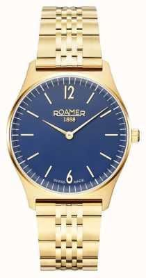 Roamer | elementi femminili | acciaio inossidabile placcato in oro | quadrante blu 650815 48 45 50