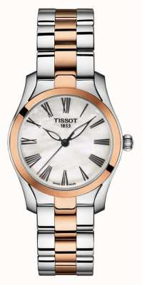 Tissot | t-wave | bracciale bicolore da donna | quadrante in madreperla | T1122102211301