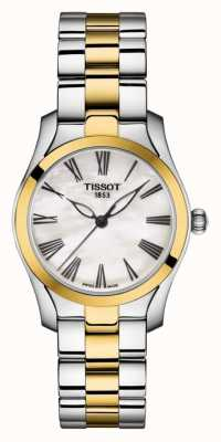 Tissot | t-wave | bracciale bicolore da donna | quadrante in madreperla | T1122102211300