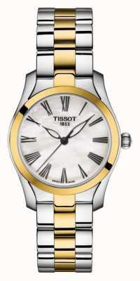 Tissot | t-wave | bracciale da donna bicolore | quadrante madreperla | T1122102211300