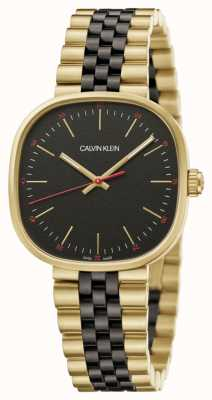 Calvin Klein | uomo | esattamente | bracciale bicolore | quadrante nero | K9Q125Z1