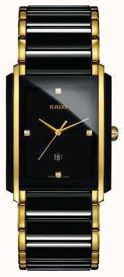 Rado Orologio con quadrante nero in ceramica high-tech con diamanti integrati R20204712