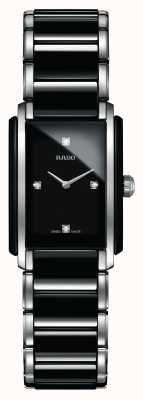 Rado Orologio con quadrante quadrato in ceramica high-tech con diamanti integrati R20613712