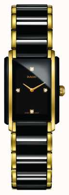 Rado Orologio con quadrante quadrato in ceramica high-tech con diamanti integrati R20845712