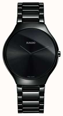 Rado Vero quadrante nero sottile in ceramica high-tech R27741182