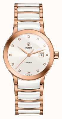 Rado Orologio a bracciale in ceramica con diamanti automatici Centrix R30183742