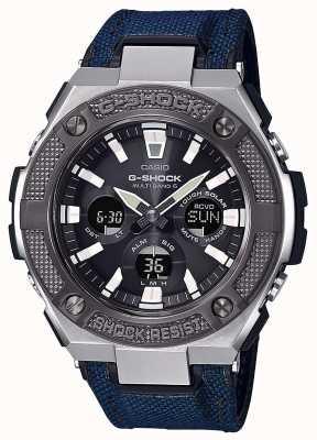 Casio | g-shock | g-steel | cordura blu / cinturino in pelle | GST-W330AC-2AER