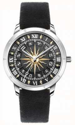Thomas Sabo | orologio solare da donna | cinturino in velluto nero | quadrante nero 3d SET_WA0351-217-203