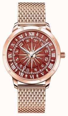 Thomas Sabo | glam spirit astro femminile | quadrante rosso | maglia in oro rosa | WA0353-265-212-33