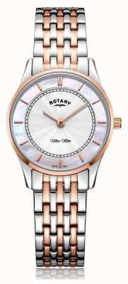 Rotary   braccialetto bicolore ultra sottile da donna   madreperla   LB08302/07/D