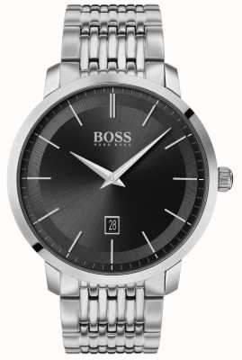 Boss   classico da uomo premium   acciaio inossidabile   quadrante nero   1513746
