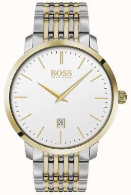 Boss | uomo | classico premium | due toni | quadrante argentato | 1513747