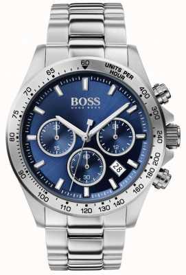 BOSS | uomo eroe sport lux | bracciale in acciaio | quadrante blu | 1513755