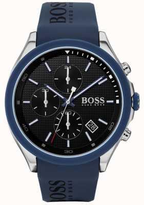 BOSS | velocità maschile | cinturino in caucciù blu | quadrante nero | 1513717