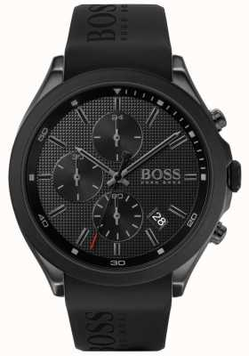 Boss | velocità maschile | cinturino in caucciù nero | quadrante nero | 1513720