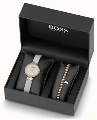Boss Set di orologi e braccialetti da donna in cristallo con set di cristalli 1570094