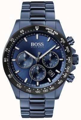 BOSS | uomo | hero sport lux | bracciale in acciaio blu | quadrante blu | 1513758