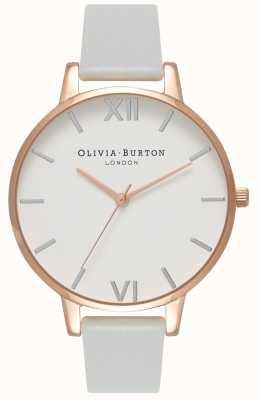 Olivia Burton | donne | quadrante grande | cinturino vegan grigio | OB16BDV02
