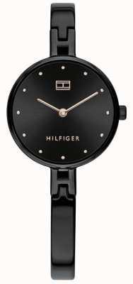 Tommy Hilfiger Kit | cinturino in acciaio inossidabile ip nero | quadrante nero 1782136