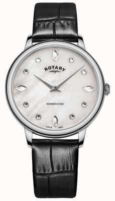 Rotary | kensington da donna | quadrante cristallo swarovski | pelle nera LS05170/41