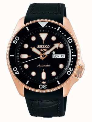 Seiko 5 sport | specialista | automatico | oro rosa e nero SRPD76K1