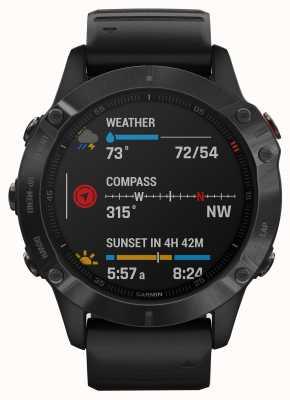 Garmin Fenix 6 pro | smartwatch multisport | cinturino in caucciù nero 010-02158-02