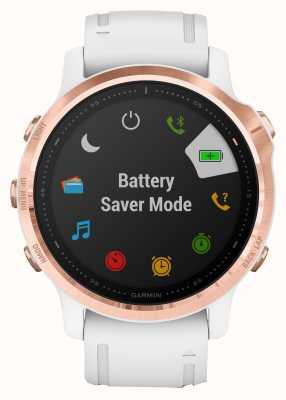 Garmin Fenix 6s pro | smartwatch multisport | cinturino bianco oro rosa 010-02159-11