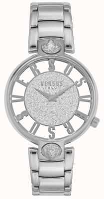 Versus Versace | Kirstenhof femminile | bracciale in acciaio argento | quadrante glitter VSP491319