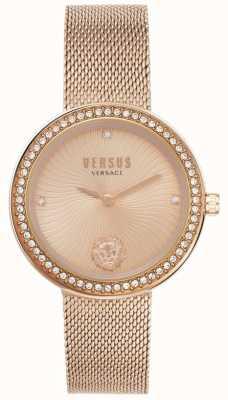 Versus Versace | léa femminile | braccialetto a maglie in oro rosa | quadrante oro rosa | VSPEN0919