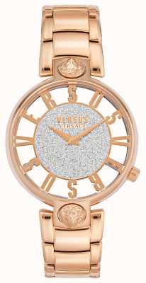 Versus Versace | Kirstenhof femminile | braccialetto in oro rosa | quadrante glitter | VSP491519