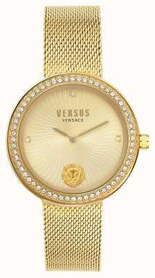 Versus Versace | léa femminile | bracciale a maglie d'oro | quadrante oro | VSPEN0819