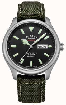 Rotary | automatico da uomo | cassa in titanio | cinturino kaki | GS05249/04