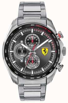 Scuderia Ferrari | pilota di velocità maschile | bracciale in acciaio inossidabile quadrante nero 0830652